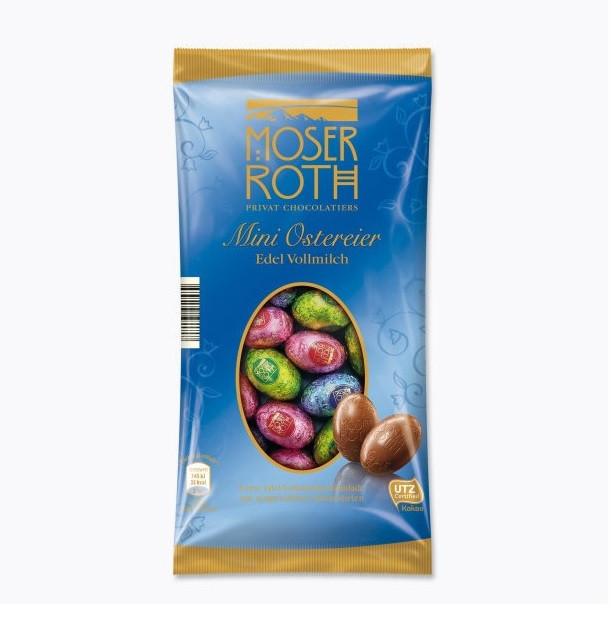 Конфеты шоколадные Moser Roth Mini Ostereier Edel Vollmilch 150 г Германия