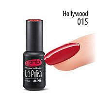 Гель-лак PNB № 015 Hollywood, 4 мл алый