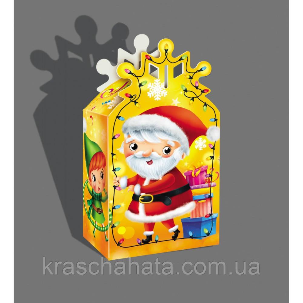 Новорічна коробка, Новорічна сніжинка, 300 гр, Картонна упаковка для цукерок,