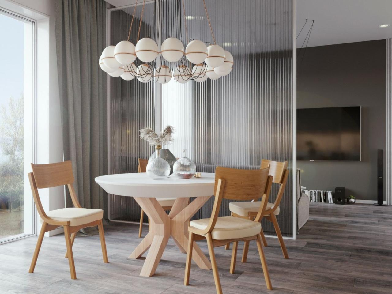 Обідній комплект: стіл Нова Бетон і стільці Диран Pavlyk ™