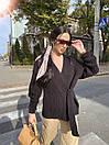 Женский свободный вязаный кардиган укороченный, на завязке (р. 42-48) 71kar305, фото 6