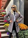 Женское демисезонное Пальто в клетку короткое с карманами (р. 42-46) 58pal302, фото 8