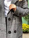 Женское демисезонное Пальто в клетку короткое с карманами (р. 42-46) 58pal302, фото 9