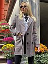 Женское демисезонное Пальто в клетку короткое с карманами (р. 42-46) 58pal302, фото 10