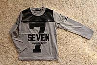 Утепленный реглан на байке с надписью SEVEN для мальчика 4-12 лет
