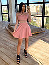 Короткое платье с блестками и вставками сетки на талии и рукавах 66plt1643Q, фото 2