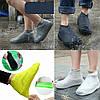 Силіконові чохли бахіли для взуття від дощу і бруду розмір M 37-41, фото 3