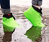 Силіконові чохли бахіли для взуття від дощу і бруду розмір M 37-41, фото 8