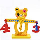 Розвиваюча дерев'яна іграшка фруктовий баланс, фото 3
