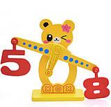 Розвиваюча дерев'яна іграшка фруктовий баланс, фото 4