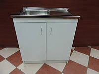 Тумба для кухни 80 см (белая), фото 1
