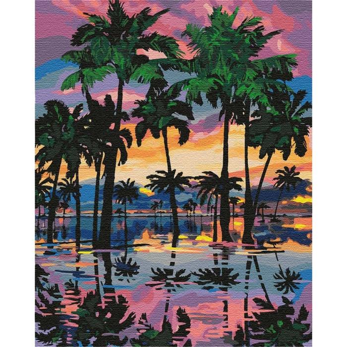 Картина по номерам  Пальмы