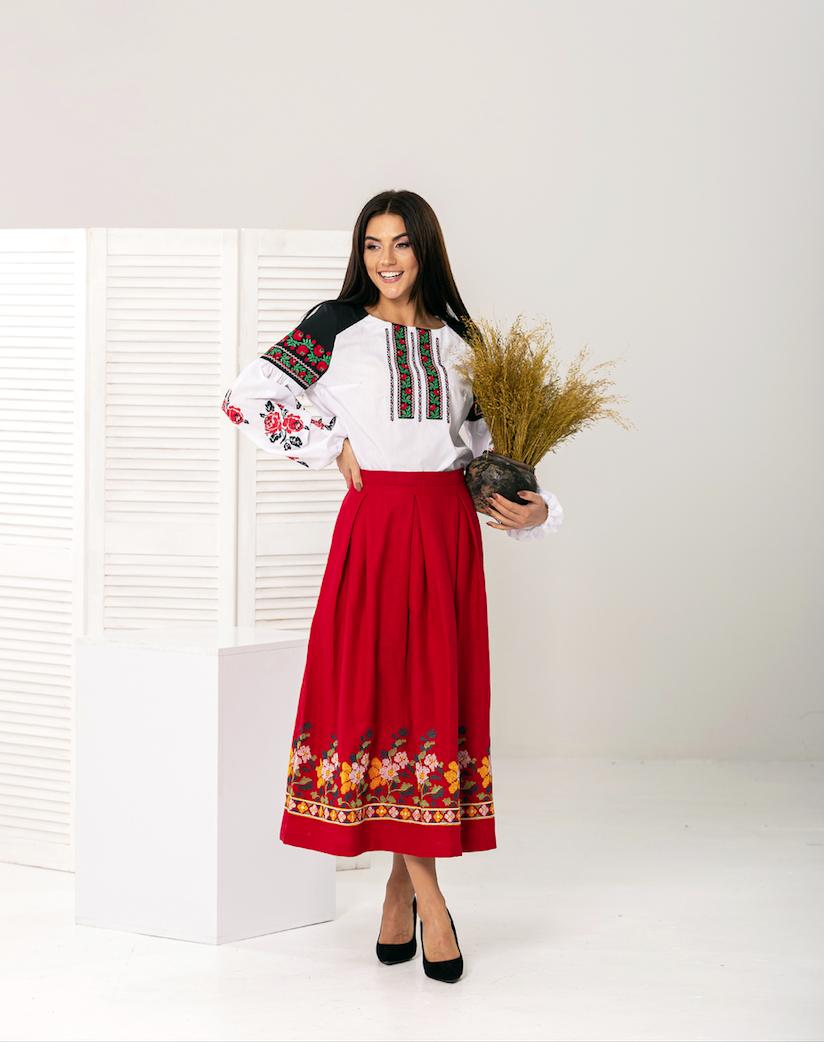 Женская юбка под вышиванку - Мелания