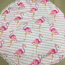 Пляжный коврик Фламинго 150х150 см