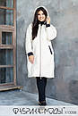Стеганое Пальто ниже колена, прямого кроя с капюшоном в больших размерах 1blr807, фото 5