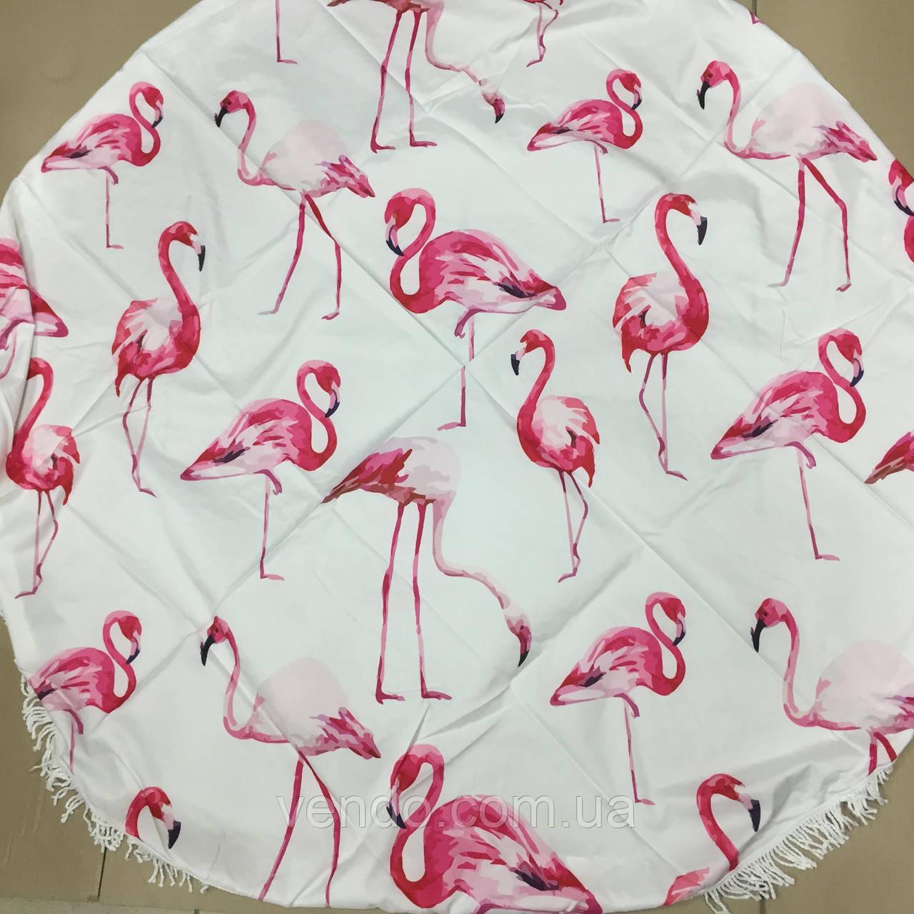 Пляжный коврик Фламинго розовый 150х150 см