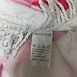 Пляжный коврик Фламинго розовый 150х150 см, фото 4