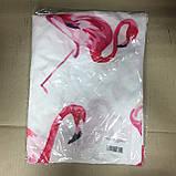 Пляжный коврик Фламинго розовый 150х150 см, фото 5