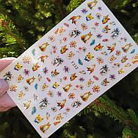 Наклейки для ногтей животные, звери, лисички (слайдер на ногти) №232