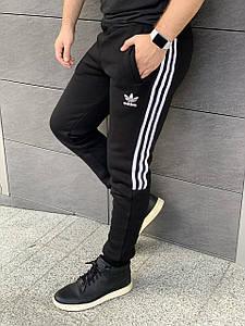 Спортивные штаны зимние Adidas на флисе XL