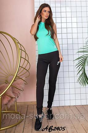 Женский костюм для фитнеса топ+лосины+борцовка  рр 44 и 46, фото 2