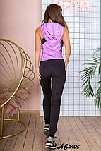 Женский костюм для фитнеса топ+лосины+борцовка  рр 44 и 46, фото 3