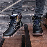 Ботинки мужские зимние South Graft black, зимние классические ботинки, фото 3
