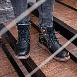 Ботинки мужские зимние South Graft black, зимние классические ботинки, фото 4