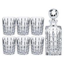 Набор для виски Bohemia Diplomat (графин 700мл+ стакани 320мл-6шт) 7 предметов богемское стекло (b99999-AC013)