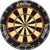 Дартс мишень сизаль Harrows Promatch Англия Ø45см ОРИГИНАЛ + фирменные дротики + линия на пол