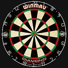 Мішень для Дартсу Просунутого рівня Winmau Diamond Plus Англія Ø45см + 6 дротиків +лінія для кидка ОРИГІНАЛ