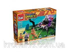 """Конструктор Brick 1301 """"Пираты"""", паук, 73 детали, 2 фигурки, в коробке"""
