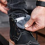 Ботинки мужские зимние South Rebel black, зимние классические ботинки, фото 7