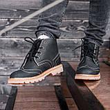Ботинки мужские зимние South Rebel black, зимние классические ботинки, фото 3