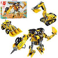 Конструктор робот-трансформер-стройтехника типа лего Qman 4805Q, аналог LEGO, 509 деталей, от 6 лет