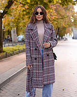 Демисезонное пальто фиолетовое