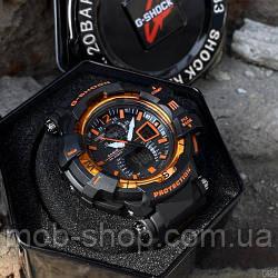 Чоловічий наручний годинник Casio G-Shock GW-A1100 Black-Orange кварцовий і електронний механізм