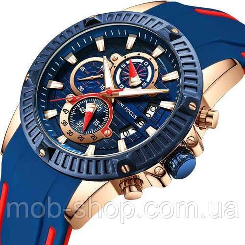 Мужские наручные часы Mini Focus MF0244G.01 Blue-Cuprum-Red оригинал