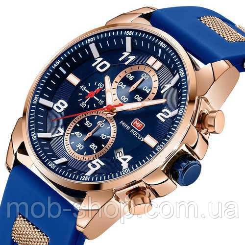 Чоловічий наручний годинник Mini Focus MF0268G.01 Blue-Cuprum оригінал