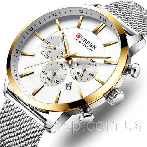 Наручные часы Curren 8340 Silver-Gold