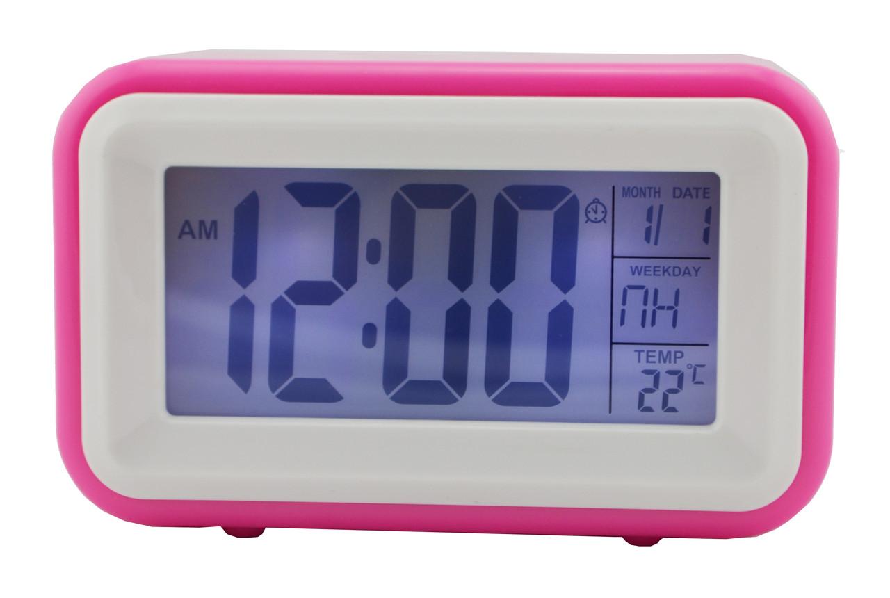 Говорящие часы Atima AT-608TR розовые