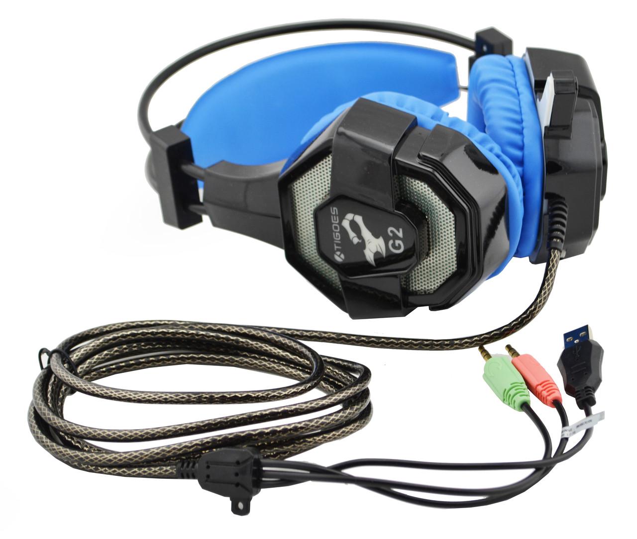 Наушники Gaming Stereo Headphone G2 с микрофоном Black
