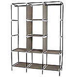 Складной тканевый шкаф, шкаф для одежды Storage Wardrobe 88130 на 3 секции Black, фото 2