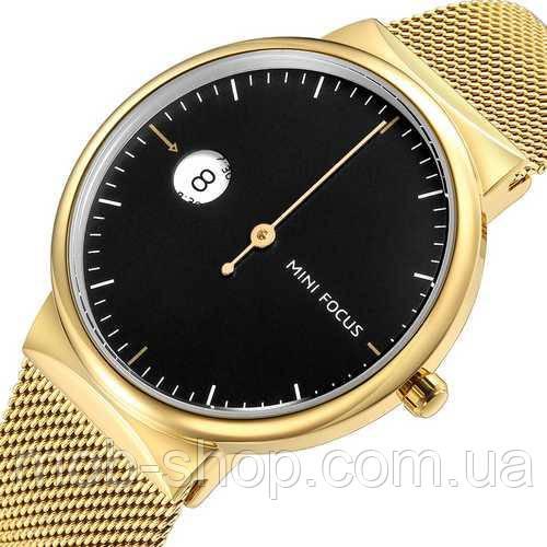 Чоловічий наручний годинник Mini Focus MF0182G.04 Gold-Black оригінал