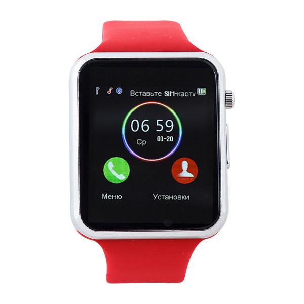 Умные часы телефон Smart Watch A1 Red