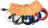 USB кабель для iPhone Lightning (кабель для зарядки айфона) 1 метр Amazon M4 (Микс цветов) (90447), фото 2
