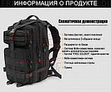 Тактический штурмовой военный рюкзак 25л портфель песочный, фото 2