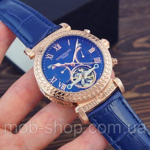 Мужские наручные часы Patek Philippe Grand Complications Blue-Gold-Blue механика с автоподзаводом