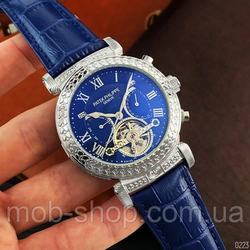 Мужские наручные часы Patek Philippe Grand Complications Blue-Silver-Blue механика с автоподзаводом