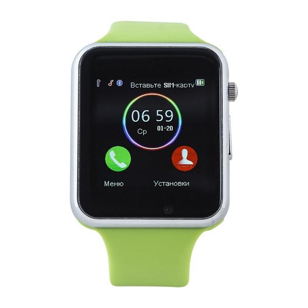 Умные часы телефон Smart Watch A1 Green